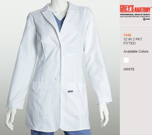 Grey\'s Anatomy Lab Coat 7446