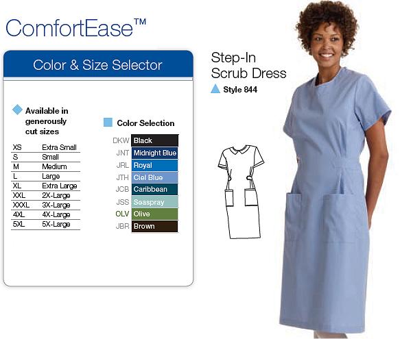 Scrub dresses in colors