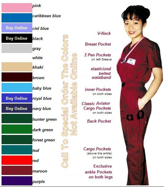 Aviator Scrubs Classic Set