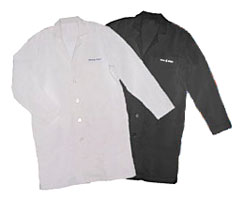 black color lab coats
