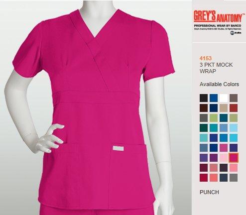 Women S Grey Anatomy 3 Pkt Mock Wrap 4153